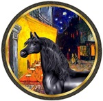 Black Arabian Horse<br>In The Terrace Cafe