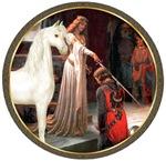 White Arabian Horse<br> The Accolade