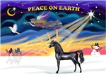 """Black Arabian Horse in<br>""""Christmas Sunrise"""""""