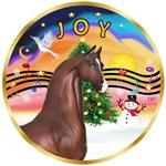 "Brown Arabian Horse in<br>""Christmas Music #2"""