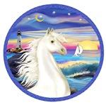 White Arabian Horse<br>in