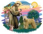 St. Francis #2 &<br>Wheaten Terrier (standing)