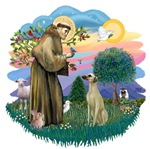 St. Francis #2 &<br> Sloughi (sit)