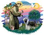 St. Francis #2 &<br> Bearded Collie (slate white)