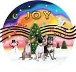 CHRISTMAS MUSIC #2<br>Three Chihuahuas