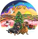 CHRISTMAS MUSIC #2<br>Two Dachshunds