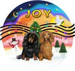 CHRISTMAS MUSIC #2<br>2 Long Haired Dachshunds