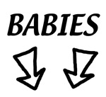 BABIES with 2 arrows for twins