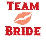 Lips Team Bride T-shirts and Wedding Favors