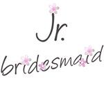 Pink Floral Jr. Bridesmaid Gifts and T-shirts