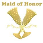Golden Maid of Honor T-shirts & Gifts