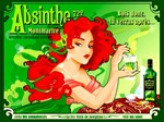 Absinthe Vintage Red Head Liquor Advertising Print