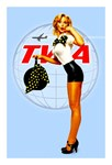 TWA Vintage Flight Attendant Advertising Print