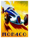 NMonaco Racing Cars Advertising Printew Section