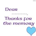 OYOOS Thank for the Memory Heart design