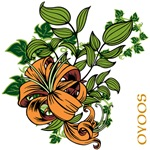 OYOOS Orange Flower design