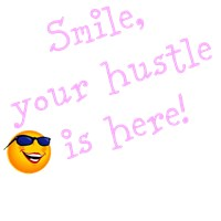 Smile, your hustle is here! (ladies dark shirts)
