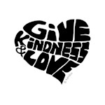 Give Kindness and Love - Black