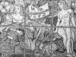 Two Women in a Garden by Laura G Sweeney