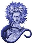 Blue Monkey Hugging Frida