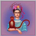 1.Frida with Red Monkey