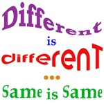 Different is different...