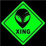 Alien Crossing Sign - XING