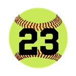 Softball Number Personalized