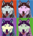 Husky Pop Art