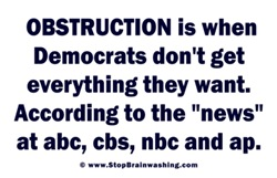 Obstruction Brainwashing