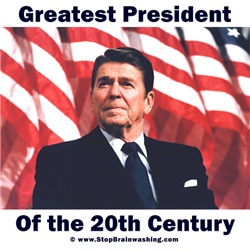 Ronald Reagan - Flag w Text