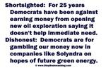 Democrats Shortsighted Dishonest V2