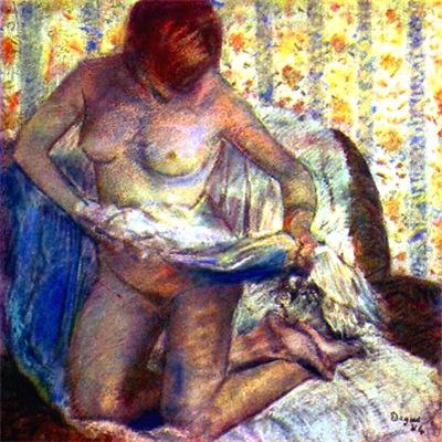 Degas - Kneeling Woman