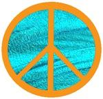 Orange Peace Symbol