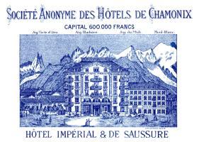 1887 Chamonix France Luggage Label