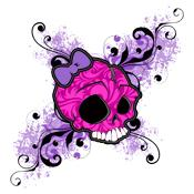 Over 30 Lady Austere Frilly Skull Shirts