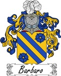 Barbaro Family Crest, Coat of Arms
