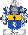 Bassi Family Crest, Coat of Arms