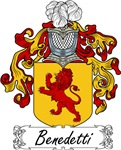 Benedetti Family Crest, Coat of Arms