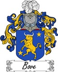 Bove Family Crest, Coat of Arms