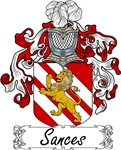 Sances Family Crest, Coat of Arms