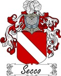 Secco Family Crest, Coat of Arms