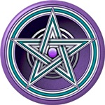 Purple and Teal Pentacle w/inlay
