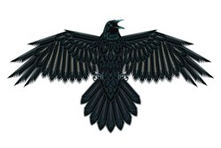Beadwork Crow or Raven
