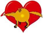 Valentine Heart Horse - english