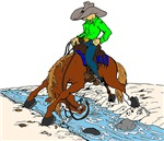 Trail Horse at Creek