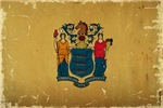 New Jersey Flag VINTAGE
