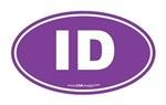 Idaho ID Euro Oval PURPLE