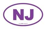 New Jersey NJ Euro Oval PURPLE
