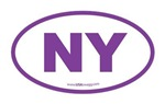 New York NY Euro Oval PURPLE